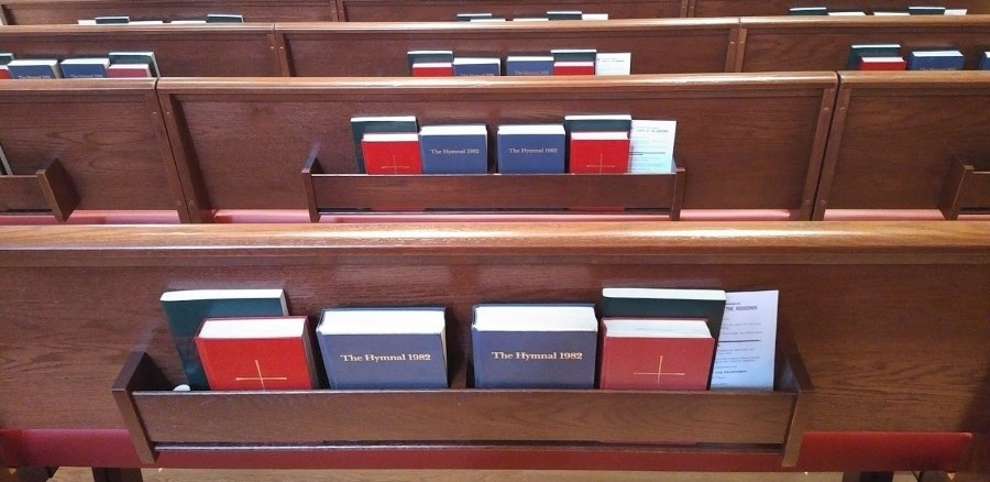Book of Common Prayers, Hymnals, and Wonder, Love, and Praise