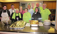 Church of the Redeemer volunteers at Community Lunch in 2012