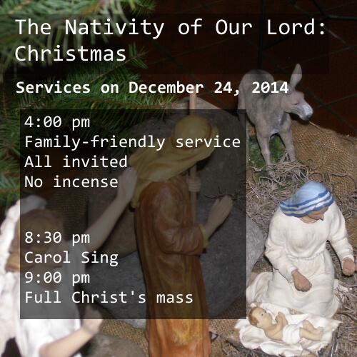 Services on Chirstmas Eve  in 2014