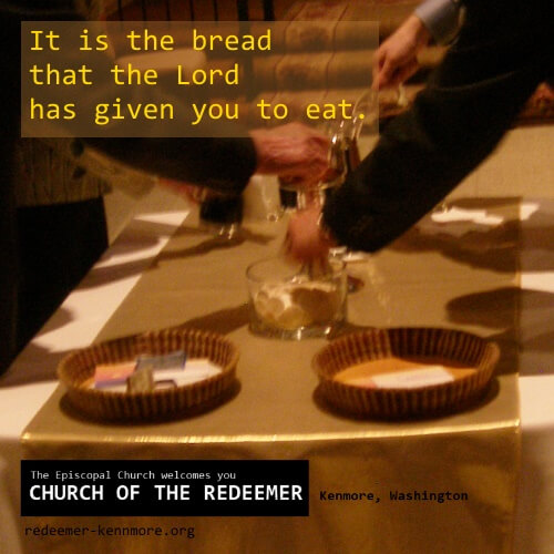 It is the bread that the Lord has given you to eat.