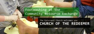 Footwashing on April 29 at United Way Community Resource Exchange