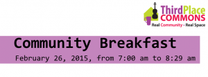 hird Place Commons-Community Breakfast, February 26, 2015