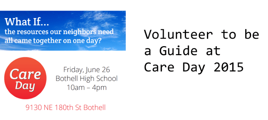 Volunteer to be a Guide at Care Day