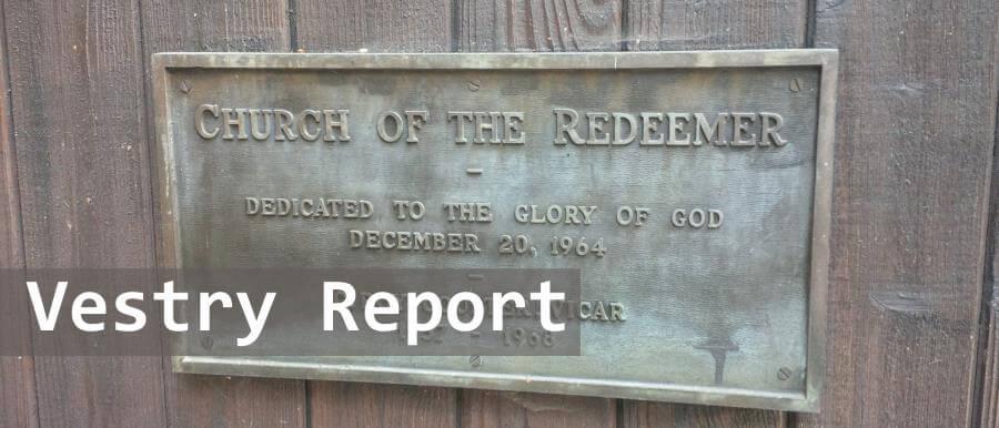 Vestry Report, December 5, 2015