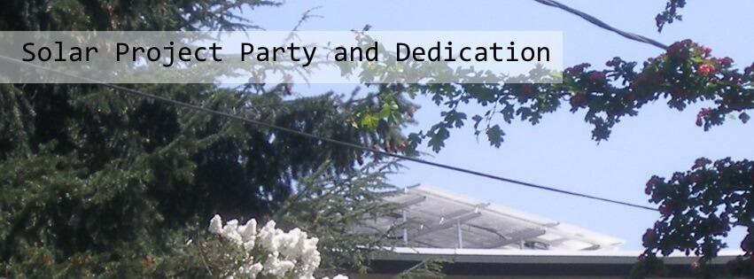 Solar Project Party and Dedication