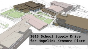 2015 School Supply Drive for Hopelink Kenmore Place