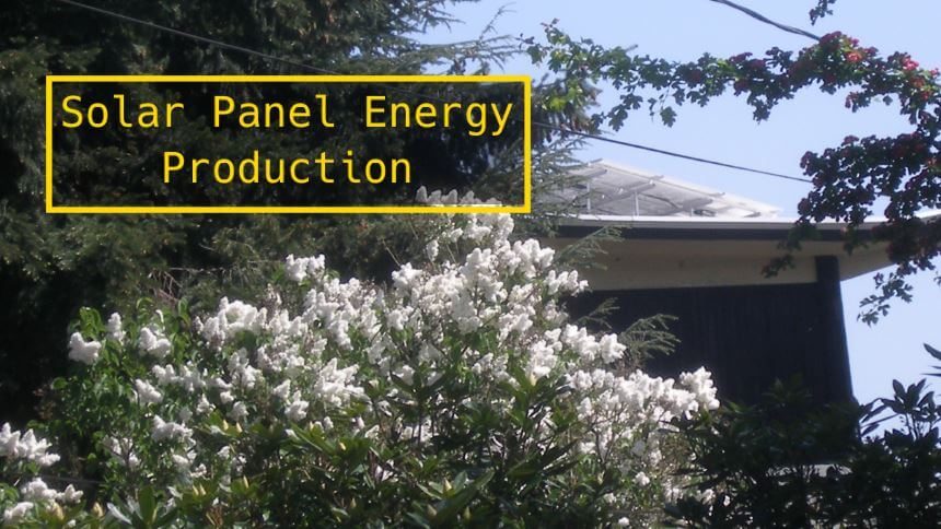 Solar panel energy production