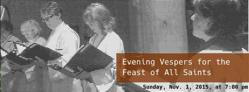 Chant at evening vespers