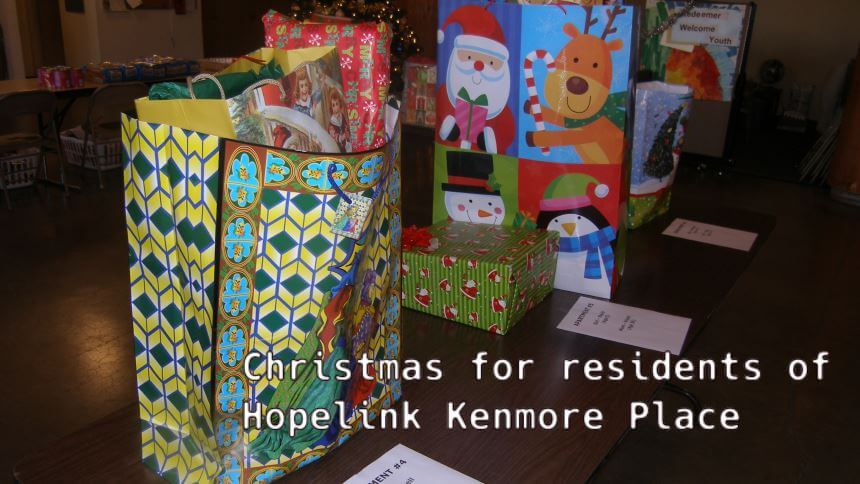 Christmas for residents of Hopelink Kenmore Place