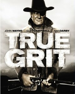True Grit movie poster, with John Wayne