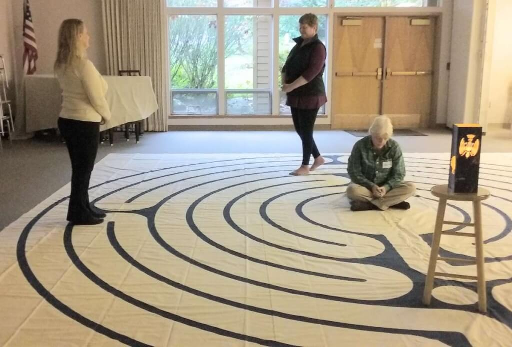 The Circle of Peace labyrinth at St. Placid Priory