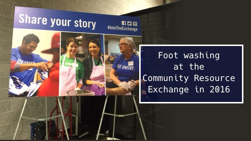 Foot Washing at the Community Resource Exchange 2016