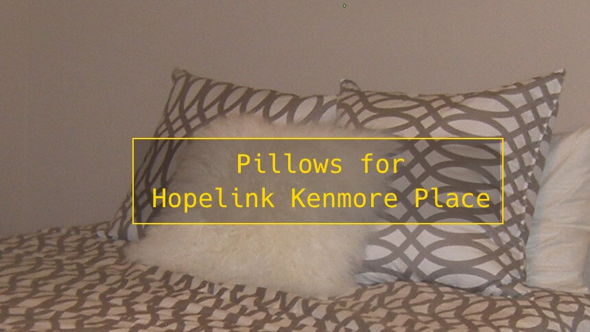 Pillows for Hopelink Kenmore Place