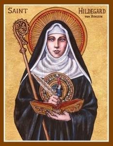 Icon of St. Hildegard von Bingen by Theophilia