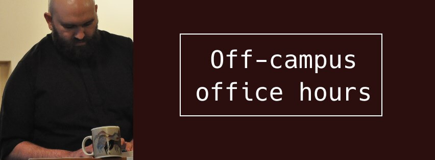 Off-campus office hours with Fr. Jed