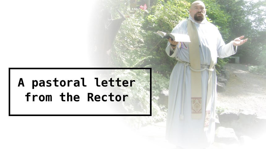 A Pastoral Letter from the Rector