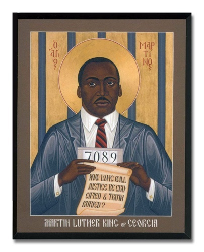 Icon of Martin Luther King by Robert Lentz