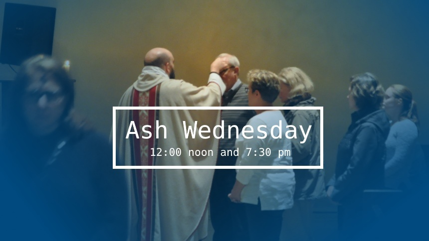 Ash Wednesday services for 2017