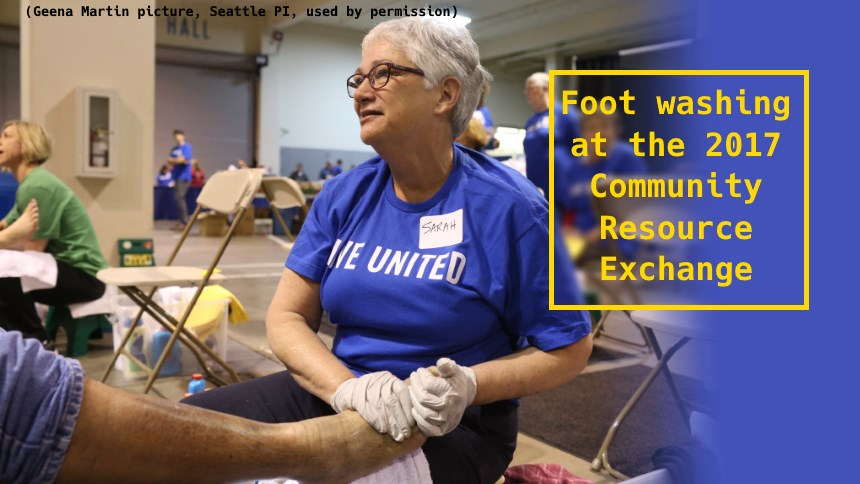 2017 Community Resource Exchange foot washing