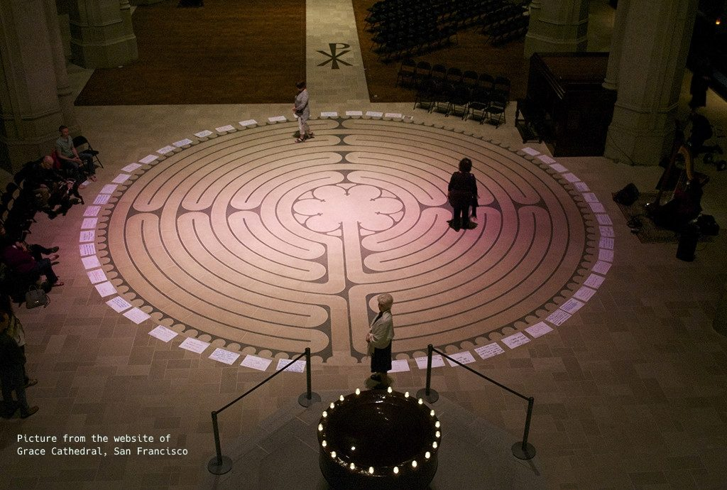 Labyrinth at Grace Cathedral in San Francisco