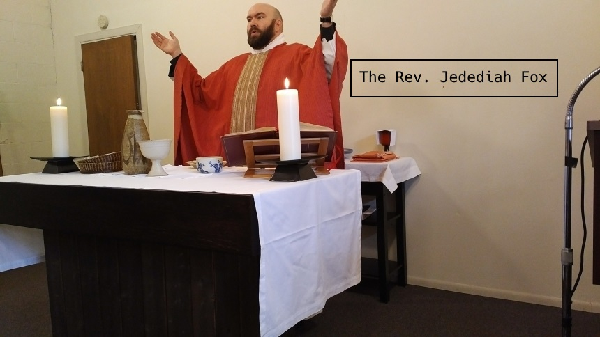 Fr. Jed Fox celebrating the Eucharist in Lent