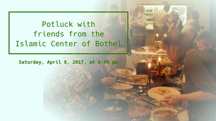 Potluck with the Islamic Center of Bothel