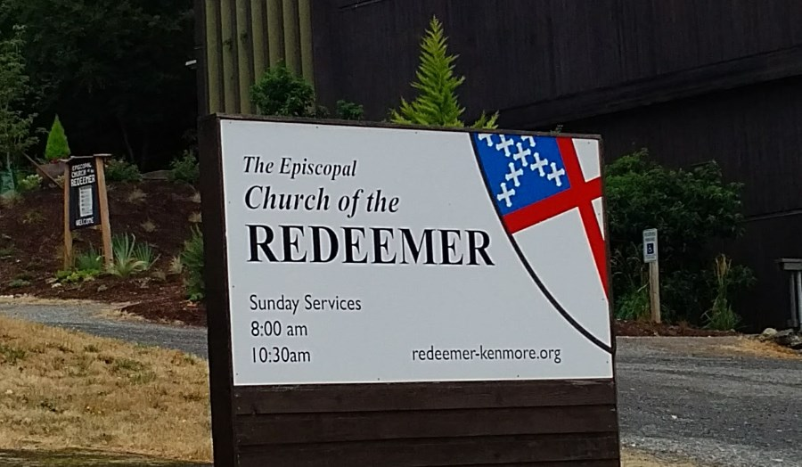 Redeemer lower entrance sign on 161st Street