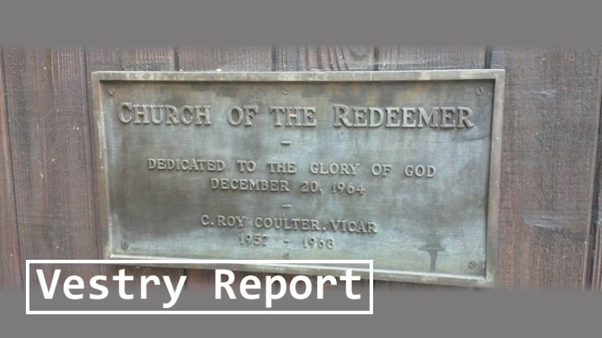 Vestry Report