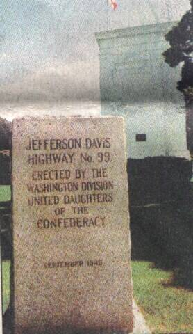 Jefferson Davis Highway No. 99 marker formerly in Blaine, Washington, at the Peace Arch