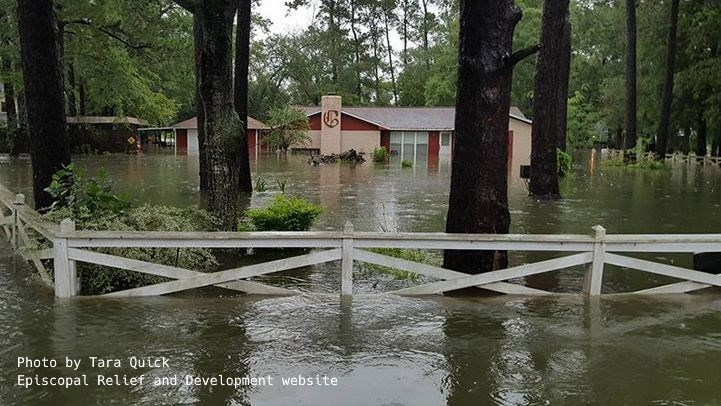 Hurricane Harvey submerged home