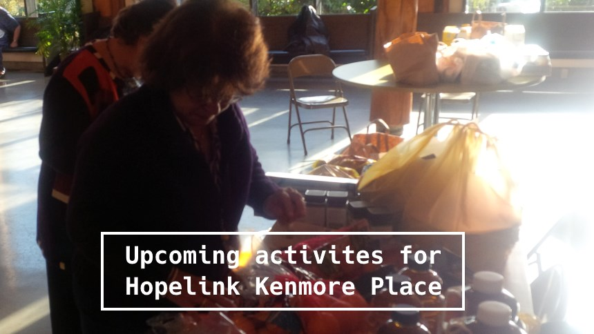 Upcoming activities for Hopelink Kenmore Place