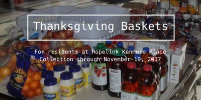 Thanksgiving Baskets for Hopelink Kenmore Place