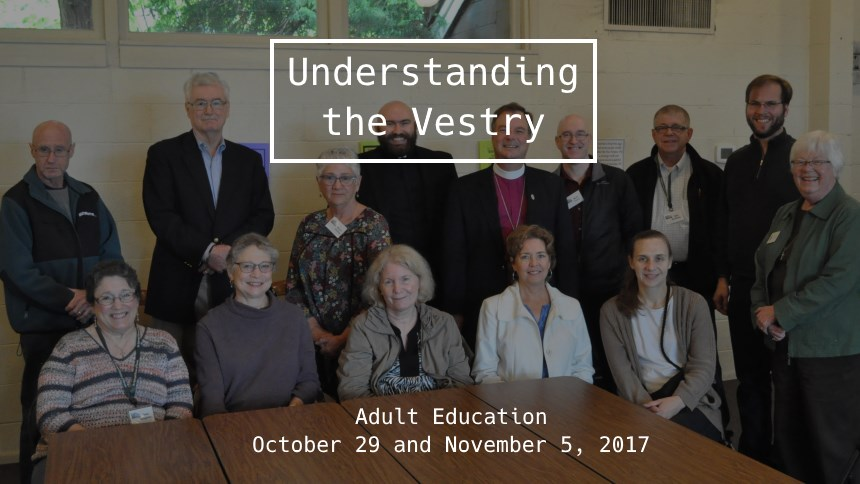 Understanding the Vestry