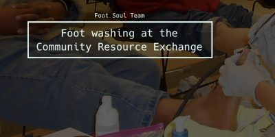 Foot washing at CRE: March 20, 2018